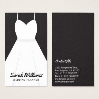 Planejador preto e branco elegante do casamento do cartão de visitas