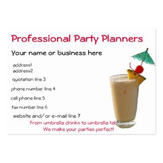 Planejador profissional do partido modelo cartão de visita
