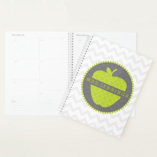 Planejador verde do professor de Quatrefoil Apple