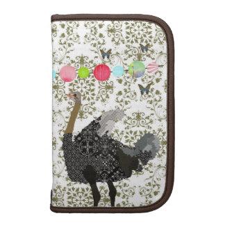Planejador verde-oliva da avestruz do damasco organizadores