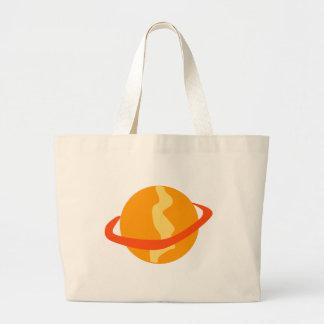 Planeta alaranjado bolsas para compras