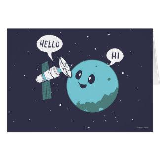 Planeta Cartão Comemorativo