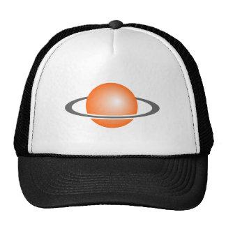 Planeta com boné de beisebol do anel