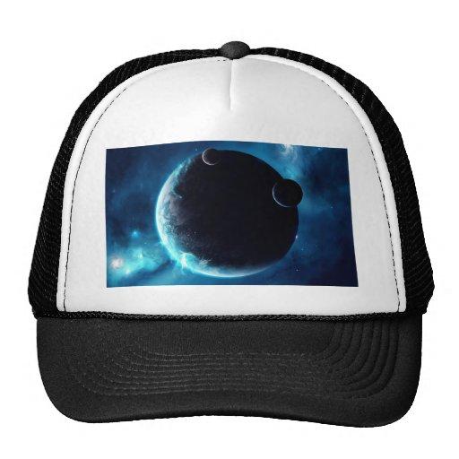 Planeta com luas bonés