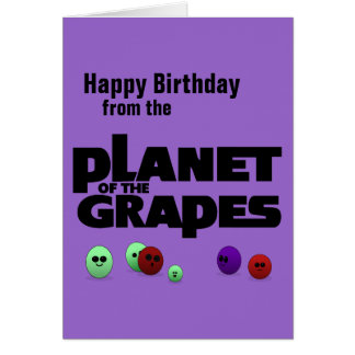 Planeta das uvas cartão