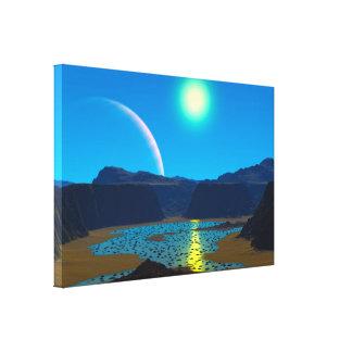 Planeta estrangeiro impressão de canvas esticadas