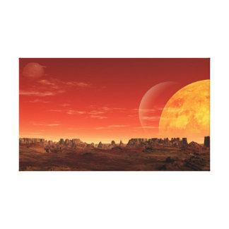 Planeta estrangeiro impressão de canvas envolvidas