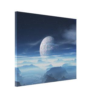 Planeta estrangeiro de Tranus com canvas satélites Impressão Em Canvas