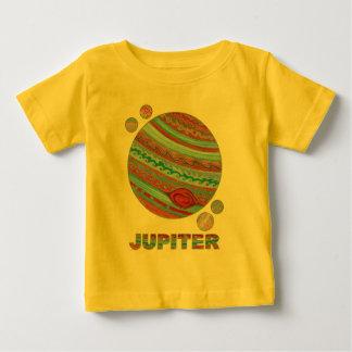 Planeta Jupiter de Z e forma do geek do espaço das Camiseta Para Bebê