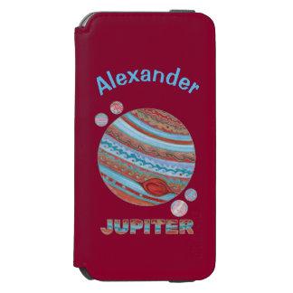 Planeta Jupiter e geek colorido do espaço das luas