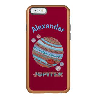 Planeta Jupiter e geek colorido do espaço das luas Capa Incipio Feather® Shine Para iPhone 6