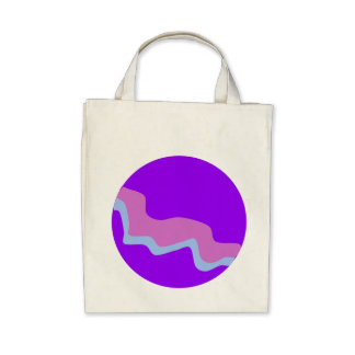 Planeta roxo bolsas para compras