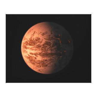 Planeta terrestre super de Gliese 876 D da terra Impressão De Canvas Esticada