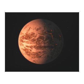 Planeta terrestre super de Gliese 876 D da terra Impressão Em Tela