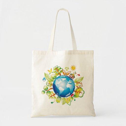 planeta verde bolsa de lona