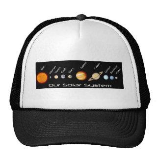 Planetas de nosso sistema solar em ordem, o espaço bonés