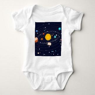 Planetas do sistema solar 2 body para bebê
