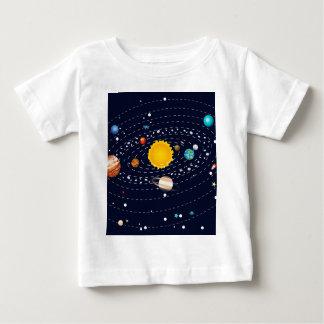 Planetas do sistema solar 2 camiseta para bebê