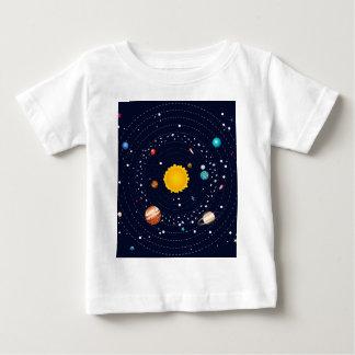 Planetas do sistema solar camiseta para bebê