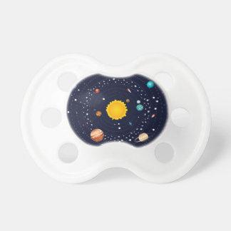 Planetas do sistema solar chupeta