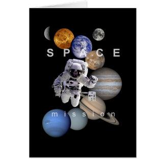planetas do sistema solar da missão espacial do cartão