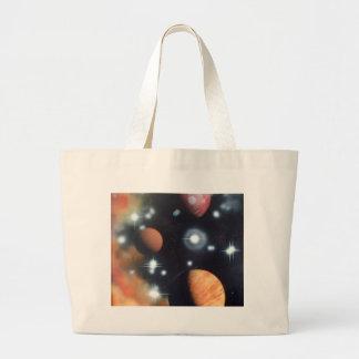 planetas e estrelas no espaço bolsa para compra