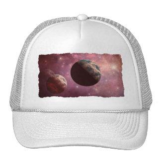 Planetas em um universo cor-de-rosa boné