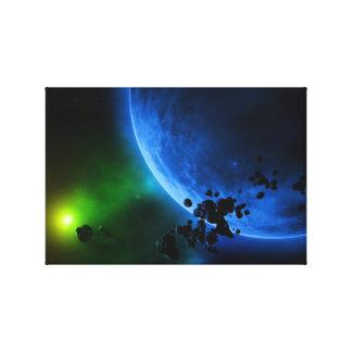 Planetas estrangeiros impressão em canvas