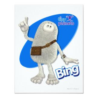 Planetas minúsculos Bing - Um-ha! Convite Personalizado
