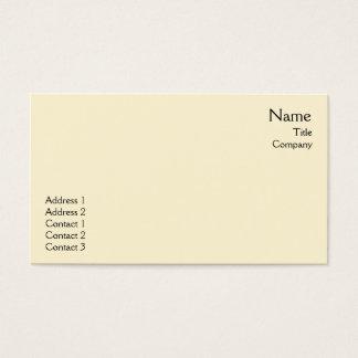 Planície amarela - negócio cartão de visitas