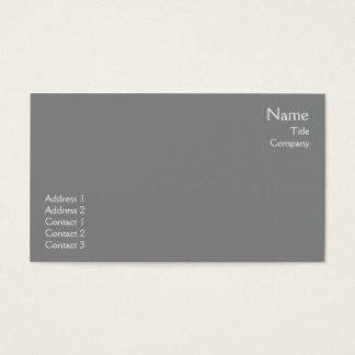 Planície cinzenta escura - negócio cartão de visitas