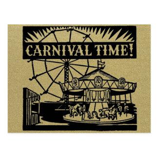 Planície do tempo do carnaval cartao postal