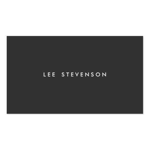 Planície minimalista preta simples moderna modelos cartao de visita