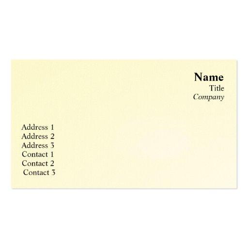 Planície - negócio modelo cartões de visita