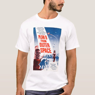 Plano 9 do espaço camiseta