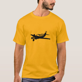 Plano amarelo alaranjado camiseta
