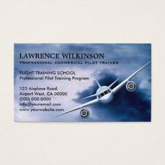 Cartão De Visitas Plano comercial em cartões de visitas da aviação