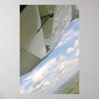 Plano de ar da asa do avião poster