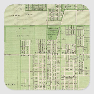 Plano de Davenport o Condado de Scott estado de Adesivo Quadrado