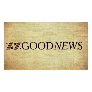 Plano do intervalo do evangelho da boa notícia do cartão de visita