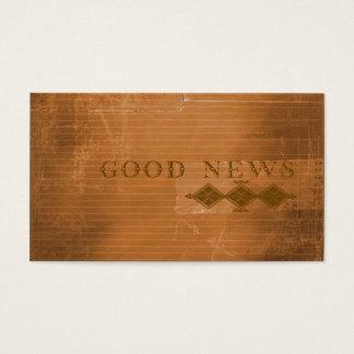 Plano do intervalo do evangelho do contemporâneo cartão de visitas