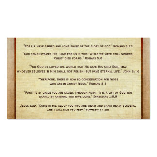 Plano do intervalo do evangelho do cristão da boa cartão de visita