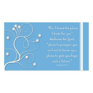 Plano do intervalo do evangelho do redemoinho azul cartão de visita
