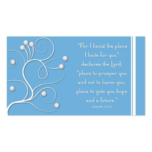 Plano do intervalo do evangelho do redemoinho azul modelo de cartões de visita