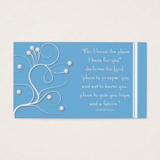 Plano do intervalo do evangelho do redemoinho azul cartão de visitas
