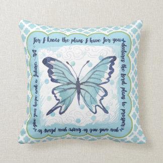 Planos para você travesseiro da borboleta (azul & almofada