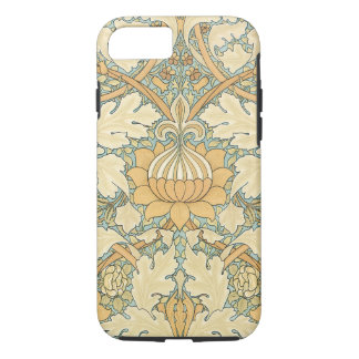 Planta antiga da folha floral de William Morris do Capa iPhone 7