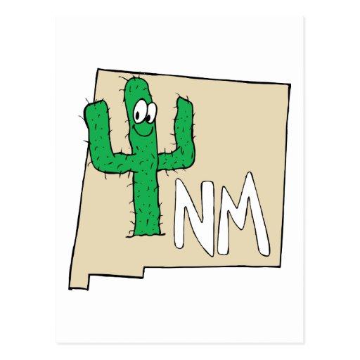 Planta do estado do mapa dos desenhos animados de  cartoes postais