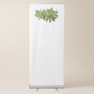 planta do succulent no jardim banner retrátil