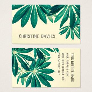 Planta exótica, cartão de visita floral